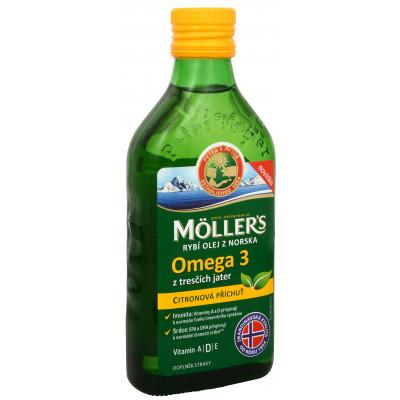 Möller´s rybí olej Omega 3 z tresčích jater s citronovou...