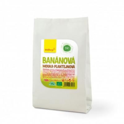 Banánová plantejnová mouka BIO 400 g Wolfberry