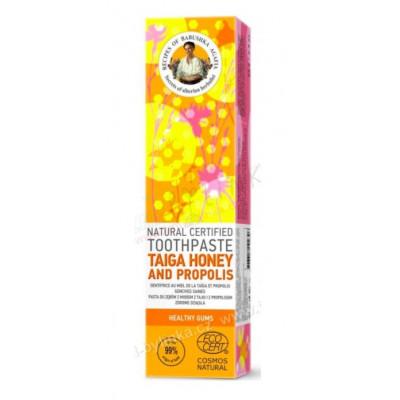 Přírodní zubní pasta s medem z Taigy a propolisem pro...