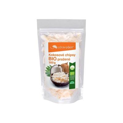 Kokosové chipsy pražené BIO 300g Zdravý den
