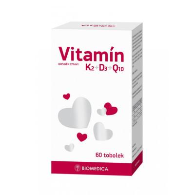 Biomedica Vitamin K2 + D3 + Q10 60 tobolek