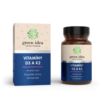Vitamíny D3 + K2 60 tbl. TOPVET