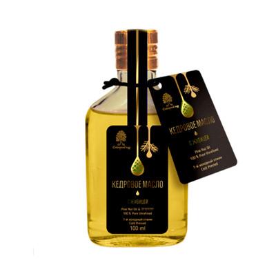 Cedrový olej s pryskyřicí nerafinovaný 100ml, SIBIŘSKÝ CEDR