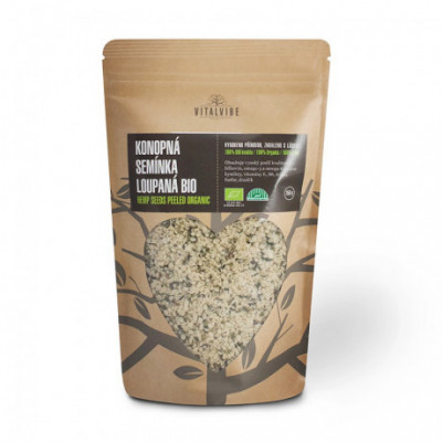 Konopná semínka loupaná BIO 250 g Vitalvibe