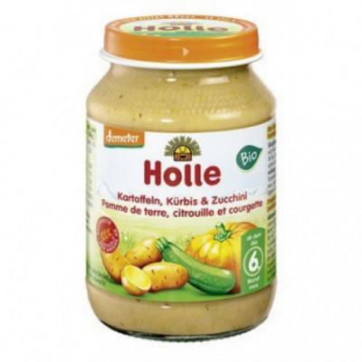 6 x Holle Bio Přesnídávka Dýně a Cuketa, 190g
