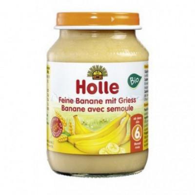 6 x Holle Bio Přesnídávka Banán, 190g